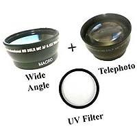 Wide Lens + Tele + UV for Samsung HMX-H200BN, Samsung HMX-H200SN, Samsung HMX-H200LN, Samsung HMX-H200RN