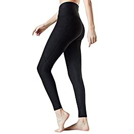 DEELIN 2020 Women's Leggings with Cell Phone Pockets Laides Yoga Pants High Waisted Tummy Control Stretch Workout Fitness Running Tights Fitting Seamless