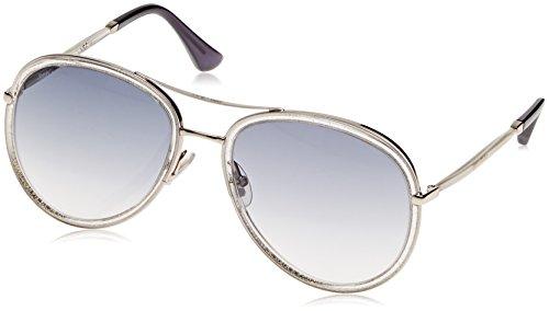 Jimmy Choo Women's Tora/S Crystal Glitter Gold/Gray - Crystals Jimmy Choo Sunglasses With