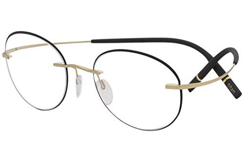Eyeglasses Silhouette TMA Icon Accent Rings (5518) 7530 Gold/Black 50/19/140 3