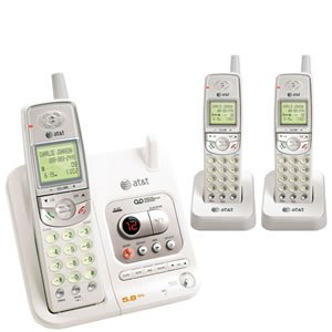 AT&T EL42308 5.8 GHz Cordless Phone with Three Handsets and Answering System -