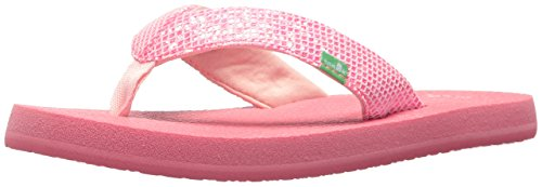 Sanuk Kids Girls' Yoga Glitter Flip-Flop, Paradise Pink, 13/1 M US Little - Pink Havianas