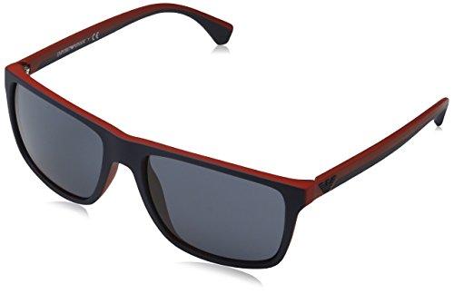 Emporio Armani EA 4033 Men's Sunglasses Blue / Red Rubber 56