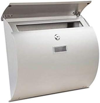 メールボックス ホームオフィスのセキュリティに最適な防水防錆壁掛け式ロック可能メールボックス 家庭用またはビジネス用 (Color : Silver, Size : Free size)