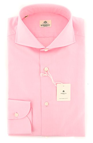 new-luigi-borrelli-pink-solid-extra-slim-shirt
