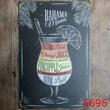 Metal Tin Sign Bahama Mama Bar Pub Vintage Retro Poster Cafe Art -