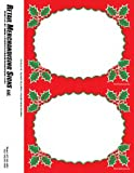 YZB480 Price Sign Laser Cards ''Holiday Christmas Border Holly'' PC Printable(3 Sizes Available 100 8 1/2'' x 11'' Sheets Per Pack)Retail-Supermarket-Grocery Business Store Signs(5 1/2'' x 7'' 2up)200 cards