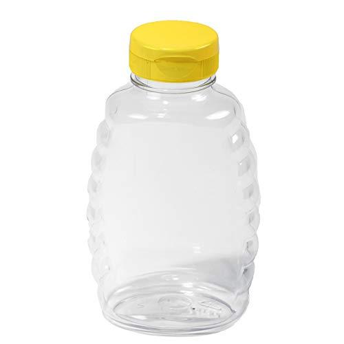 Little Giant Farm & Ag SKEP16 Little Giant Plastic Honey Jar (Case of 12), 16 oz (Bottles Honey)
