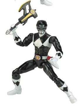 Mighty Morphin Power Rangers Legacy Collection Limited Edition 6.5 Inch Black Ranger with Metallic Finish and Exclusive -