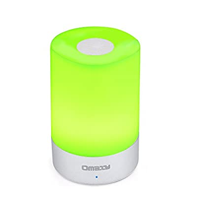 Alizzee Touch Color Changing Table Beside Led Lamps, 3 Level Dimmable Bedroom Reading Warm Led Table Lamp, USB Recharge PC+Alumunium Round 2900-3100K 3W Led Lamps(CE, FCC, ROHS, PSE)