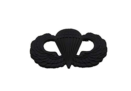 (hibadge US Army Airborne Paratrooper Parachutist Jump Wings Badge Insignia PIN-Black)