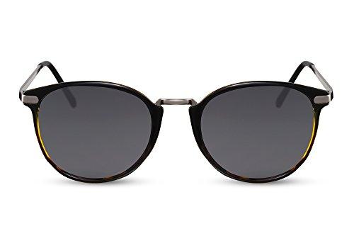 Leo 005 Lunettes Femmes Cheapass Ca Brun Rondes Rétro Hommes Noir Sunglasses wXxUqZpvH