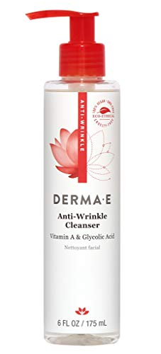 Derma E Anti-Wrinkle Vitamin A Glycolic Facial Cleanser with Papaya 6 oz