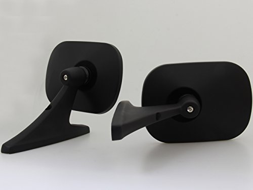 Black Square Fender Mirrors Door Mirrors New Pair LH/RH Fit Classic Cars (Vintage 1974 Fender)
