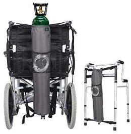 Mochila de oxígeno Bolsas para silla de ruedas Portador del tanque Portátil Bolsa de transporte de oxígeno para andador, médico, Se adapta a la botella de cilindro en