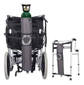Mochila de oxígeno Bolsas para silla de ruedas Portador del tanque ...
