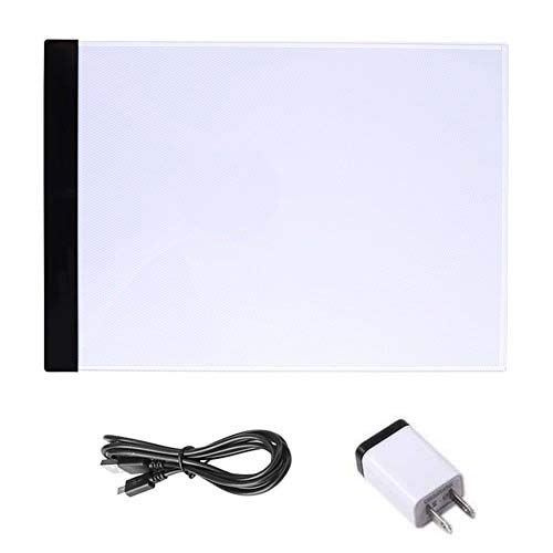A4 Tracing LED Light Box, Portable Thin Artist Tracer Light Pad Art Stencil Drawing Board Light Box Copy Tracing Table Pad for Drawing Sketching Animation Art Craft Yosoo