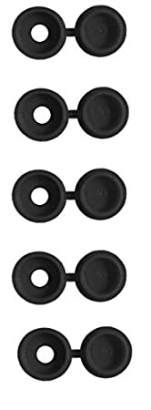 Black Pack of 50 Plastic Screw Cup and Covers Caps to Fit No.6 Screws - Black, Pack of 50 Yellow Blue Number Plate White Plastic Screw Cup and Snap Covers Caps to Fit No.6 Screws