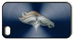 iPhone 4 Case,iPhone 4S Case,Metallic Denver Broncos PC Hard Shell Black Cover Case for iPhone 4/4S