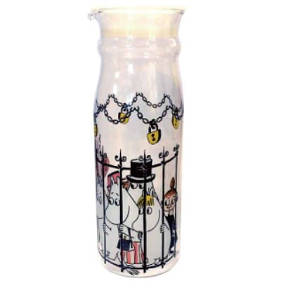 Moomin Valley Characters Caged Moomin family Glass Canister Storage Jar