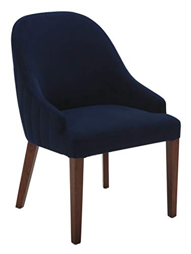Rivet Contemporary Dining Chair, 35 H, Ink Blue, King –