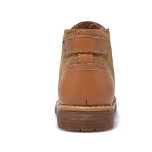 TAOFFEN Men Fashion Winter Chukka Boots High Top Shoes Light Brown EJZ25WYQ