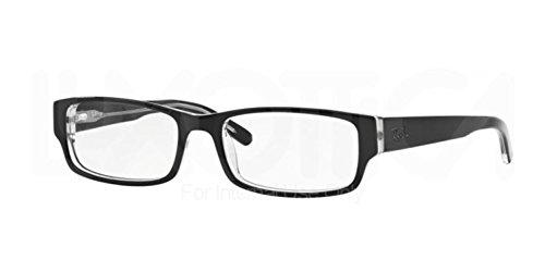 Ray Ban Eyeglasses RX5069 2034 Black on Transparent/Demo Lens, - Ray Ban Demo Lenses