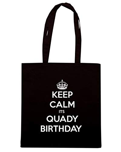 ITS CALM TKC2795 Nera Shirt BIRTHDAY Borsa Speed KEEP Shopper QUADY 0CUB7xq
