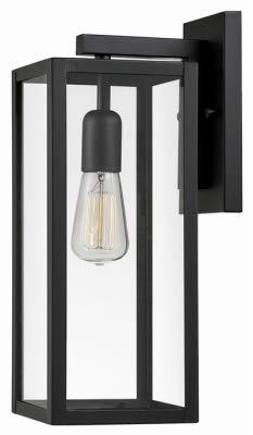 Globe Electric 44176 1LGT BLK Wall Lantern - Quantity 2