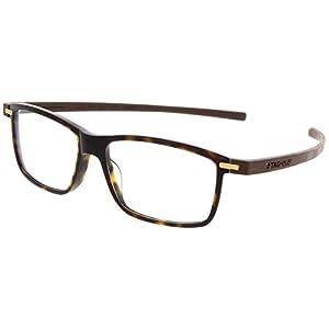 TAG Heuer 3955 Reflex 3 Rectangle Rx Prescription Ready Unisex Eyeglasses Frames (Tortoise / Havana, 53)