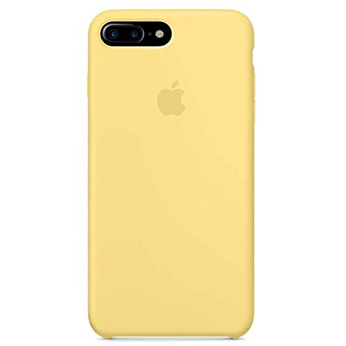 Kekleshell iPhone 8 Plus Silicone Case, iPhone 7 Plus Silicone Case, Soft Liquid Silicone Case with Soft Microfiber Cloth Lining Cushion - 5.5inch (Yellow)