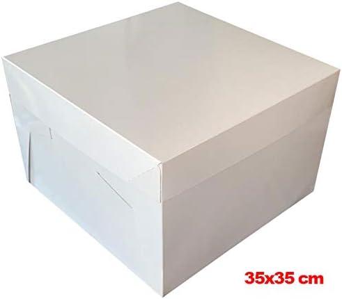 Mytortenland Caja para Tartas (35 x 35 x 20 cm, 10 Unidades ...