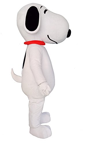 Snoopy Dog Puppy Mascot Costume Cosplay Fancy Dress Outfit (Snoopy Adult Costume)