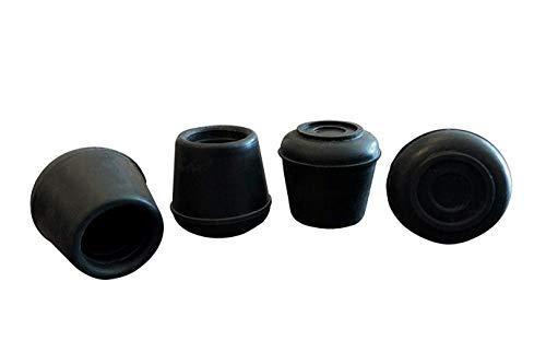 Shepherd Hardware 9129 1-1/8-Inch Inside Diameter Rubber Leg Tips, 4-Pack, Black