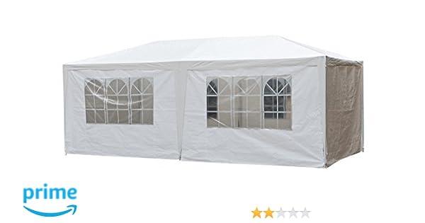 Partytent Tienda de Fiesta tienda de campaña carpa pabellón 3 x 6 x 2, 5 m jardín: Amazon.es: Jardín