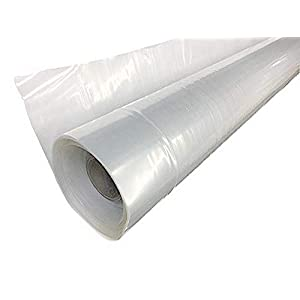 A&A Green Store Greenhouse Plastic 4 Year 6 mil Film Clear Polyethylene Cover UV Resistant (5 ft Wide x 25 ft Long)
