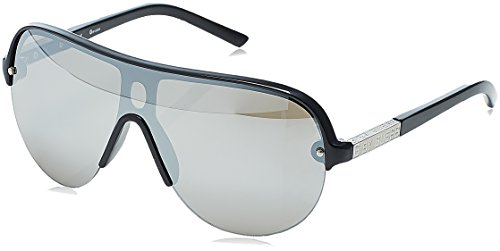 Guess G 2041 Mens Shield Half-rim Mirrored Lenses Sunglasses/Shades (0-0-134, Black / - Shades Men Guess For
