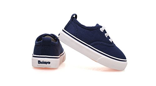 ALUK- Zapatos de bebé - zapatos de lona de los niños Aprenda los zapatos perezosos Zapatos ocasionales ( Color : Rojo , Tamaño : 21 ) Azul oscuro