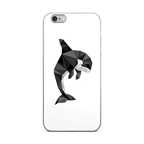 iPhone 6 Plus/6s Plus Case Anti-Scratch Creature Animal Transparent Cases Cover Geometric Design of an Orca Animals Fauna Crystal Clear]()