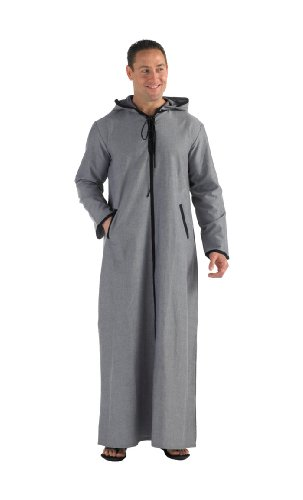 Chambray Hooded Thobe (L)