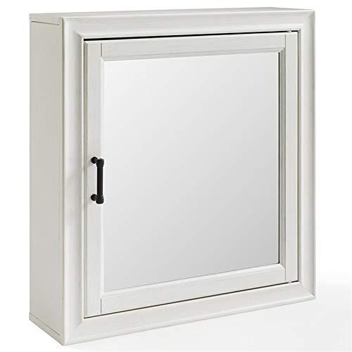 (Crosley Furniture CF7010-WH Tara Bathroom Mirror Cabinet, Vintage White)