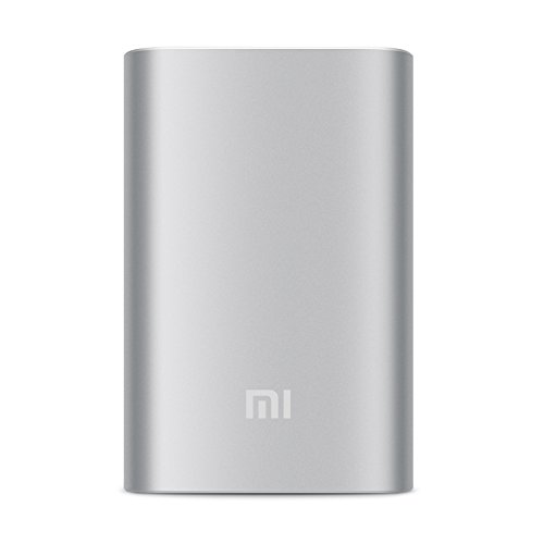 Xiaomi 10000mAh Portable Power Bank Silver Color Extra Battery Charger for Mobile Phone (Silver)