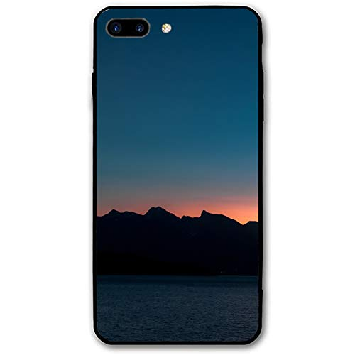 Gibsons Canada Mountains Sea Shore Skyline iPhone 8 Plus Case for Girls,Hard PC Case Anti Slip Protective Cover for iPhone 8 Plus 5.5