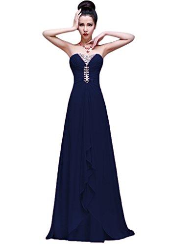 Vimans Para Marino Azul Trapecio Vestido Mujer rwwp04vcTq