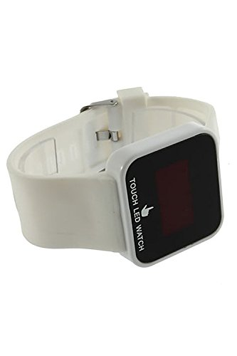 Amazon.com: TOOGOO(R) Colorful Unisex LED Digital Touch Screen Silicone Wrist Watch White: Watches
