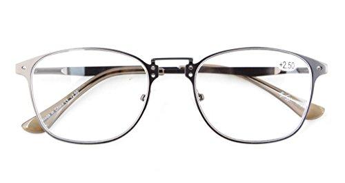 Eyekepper Lot de 4 Lunettes de Vue / lunettes de Lecture melangees, y compris une paire solaire +2.00 4pcs-melangees