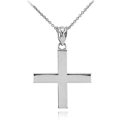 Greek Cross Pendant Necklace, 22