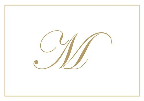 - Thank You Notes Personalized Stationery Note Cards for Thank You Note Monogrammed Initial Box of 8 Gold Letter M