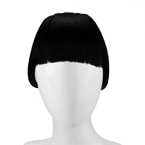 Brazilian Carnival Costumes Fancy Dress (Womens Hair Extension Wigs, Inkach Pretty Girls Clip In Front Hair with Bang Fringe Hair Extension Piece (A))