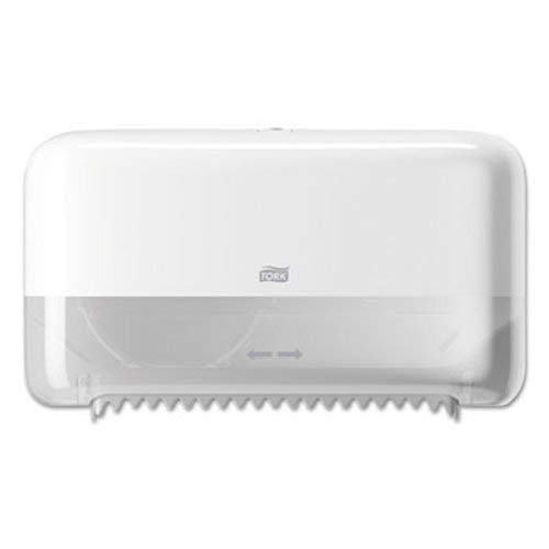 Tork 473200 Coreless Elevation High Capacity Bath Tissue Dispenser, 8.228'' Height x 14.173'' Width x 35.078'' Depth, White (Case of 1 Dispenser) for use with Tork 472886 by Tork
